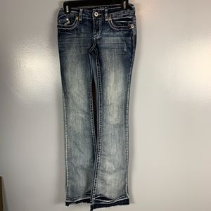 Vanity raw edge 25W 35L washed jeans